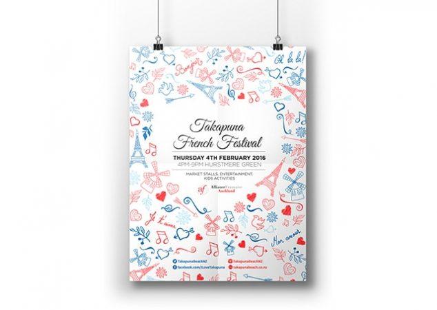 Takapuna French Festival Poster
