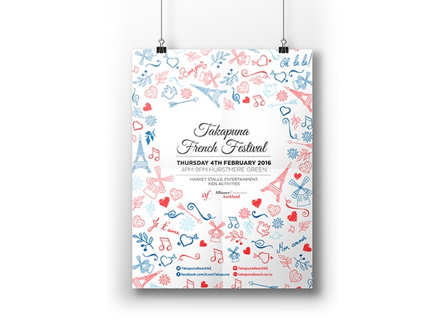 Takapuna French Festival Poster